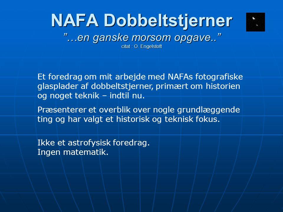 NAFA Dobbeltstjerner …en ganske morsom opgave.. citat : O.