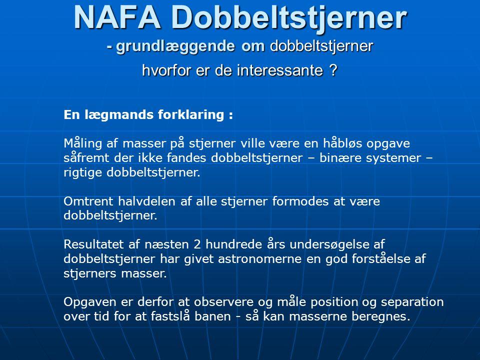 NAFA Dobbeltstjerner - grundlæggende om dobbeltstjerner hvorfor er de interessante .