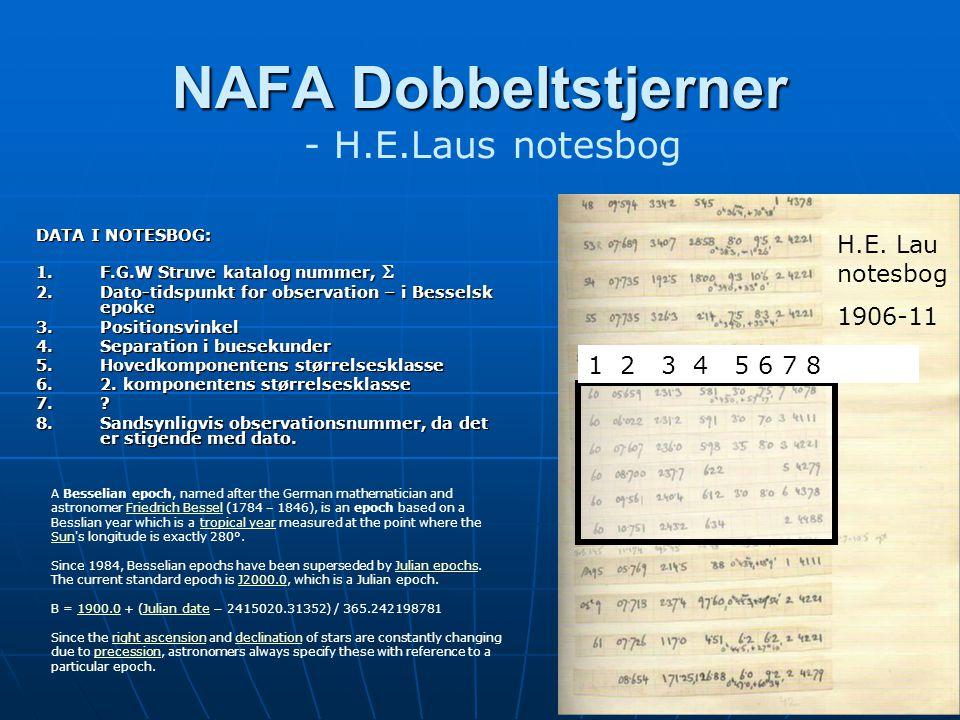 NAFA Dobbeltstjerner NAFA Dobbeltstjerner - H.E.Laus notesbog H.E.