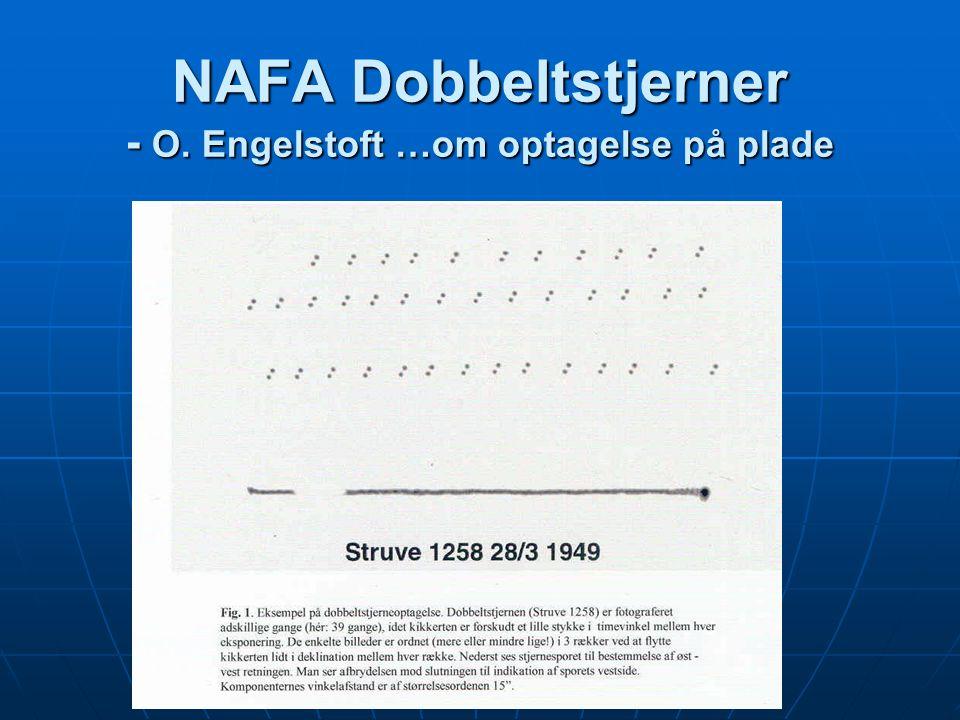 NAFA Dobbeltstjerner - O. Engelstoft …om optagelse på plade