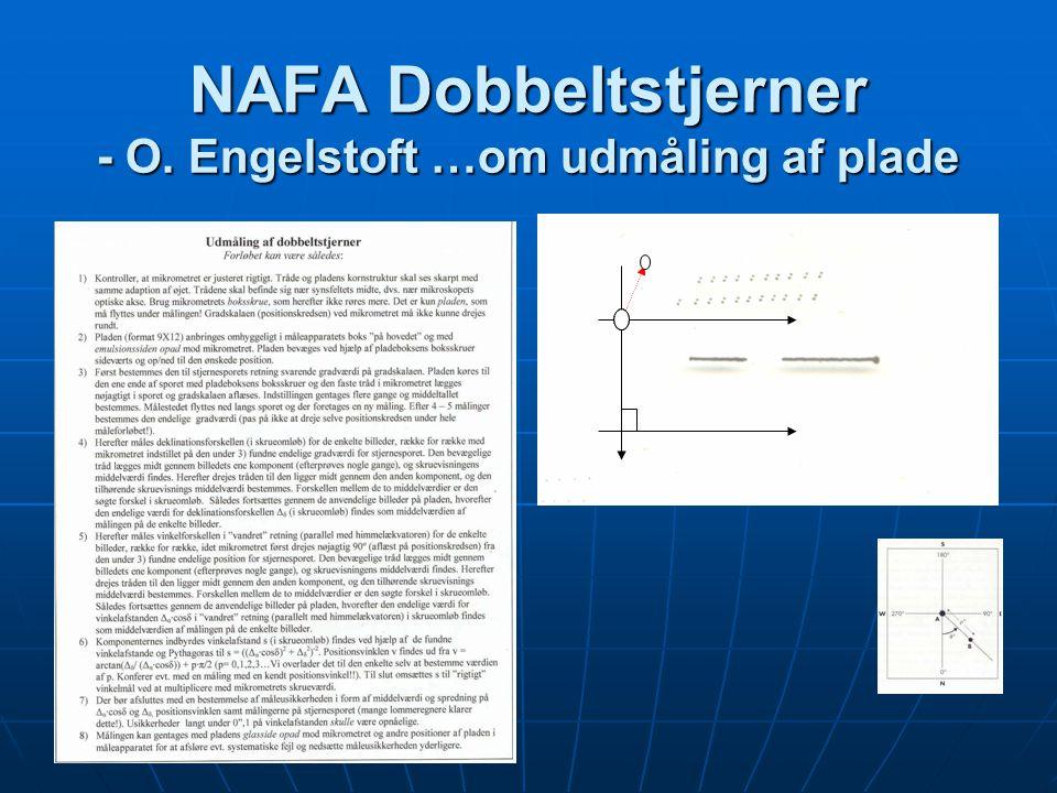 NAFA Dobbeltstjerner - O. Engelstoft …om udmåling af plade