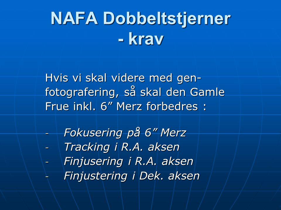 NAFA Dobbeltstjerner - krav Hvis vi skal videre med gen- fotografering, så skal den Gamle Frue inkl.