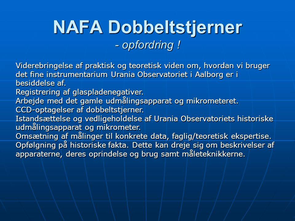 NAFA Dobbeltstjerner - opfordring .