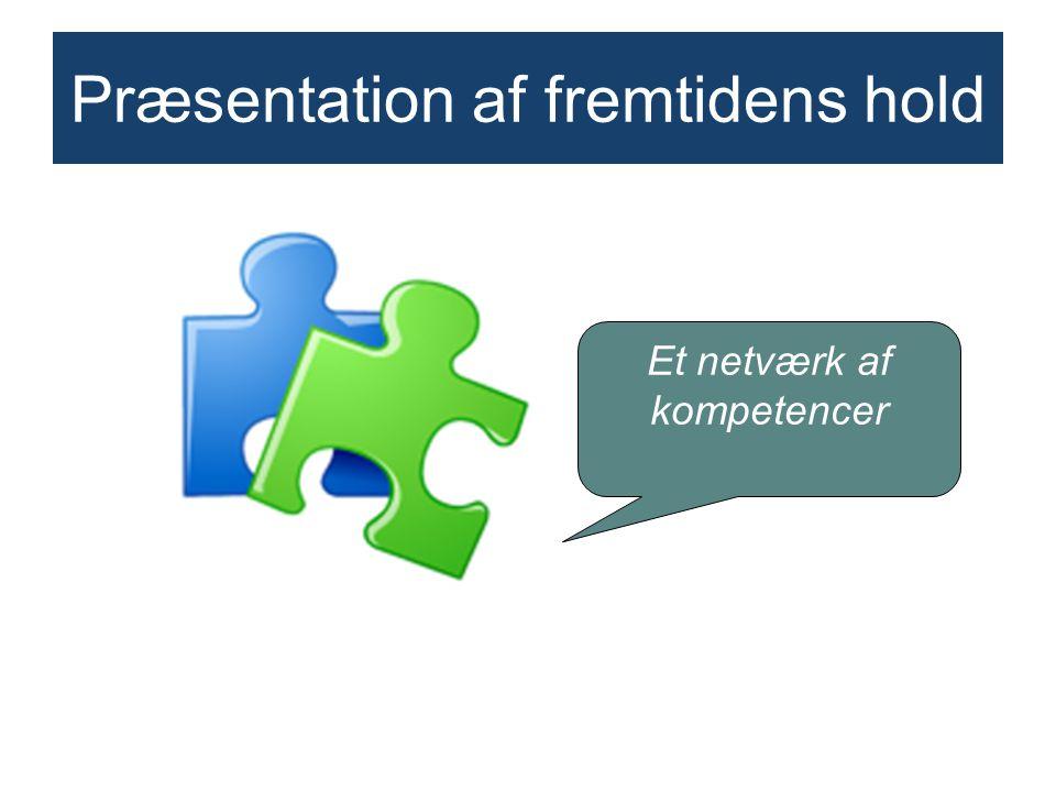 Præsentation af fremtidens hold Et netværk af kompetencer