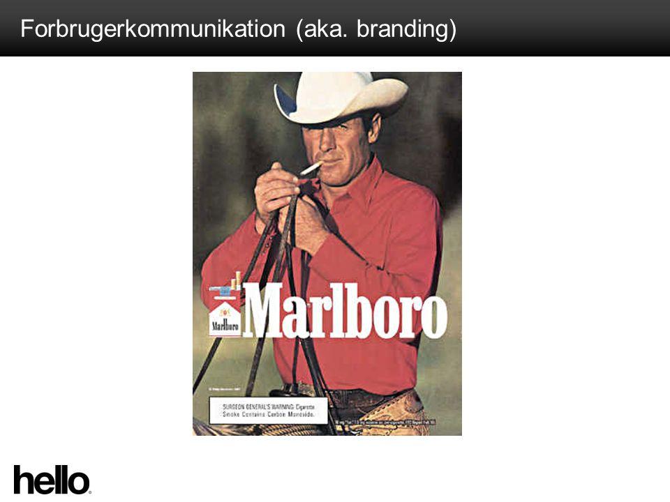 Forbrugerkommunikation (aka. branding)