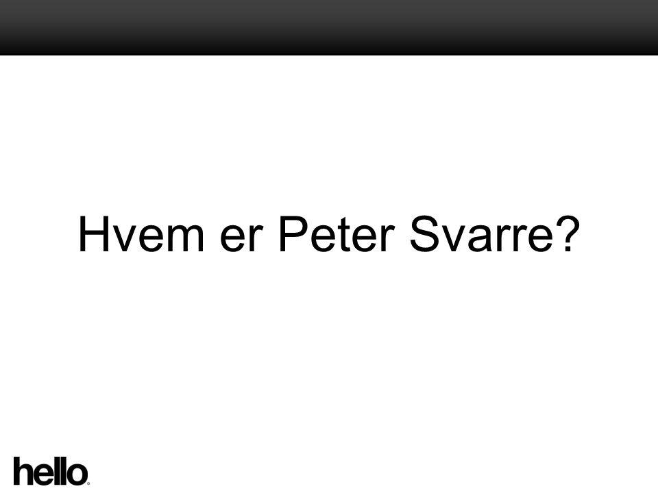 Hvem er Peter Svarre