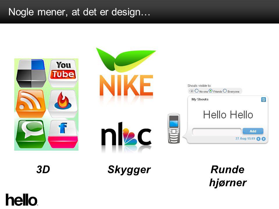 Nogle mener, at det er design… 3DSkyggerRunde hjørner