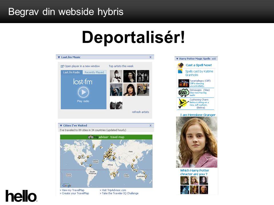 Begrav din webside hybris Deportalisér!