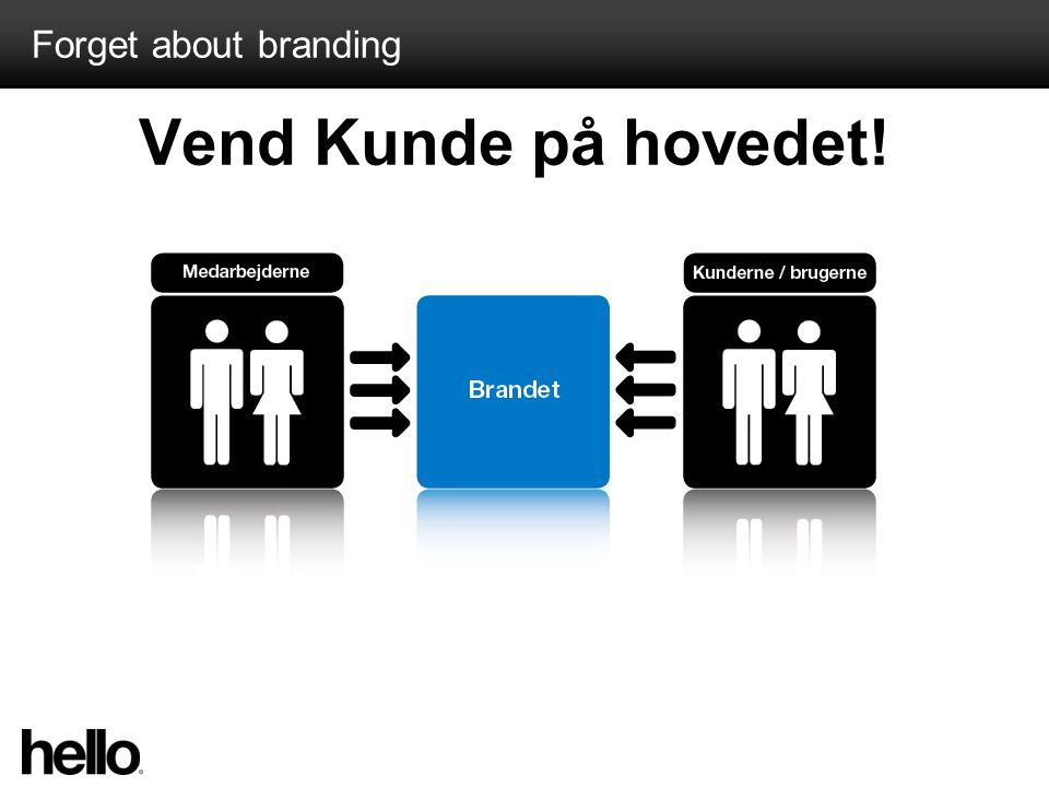 Forget about branding Vend Kunde på hovedet!
