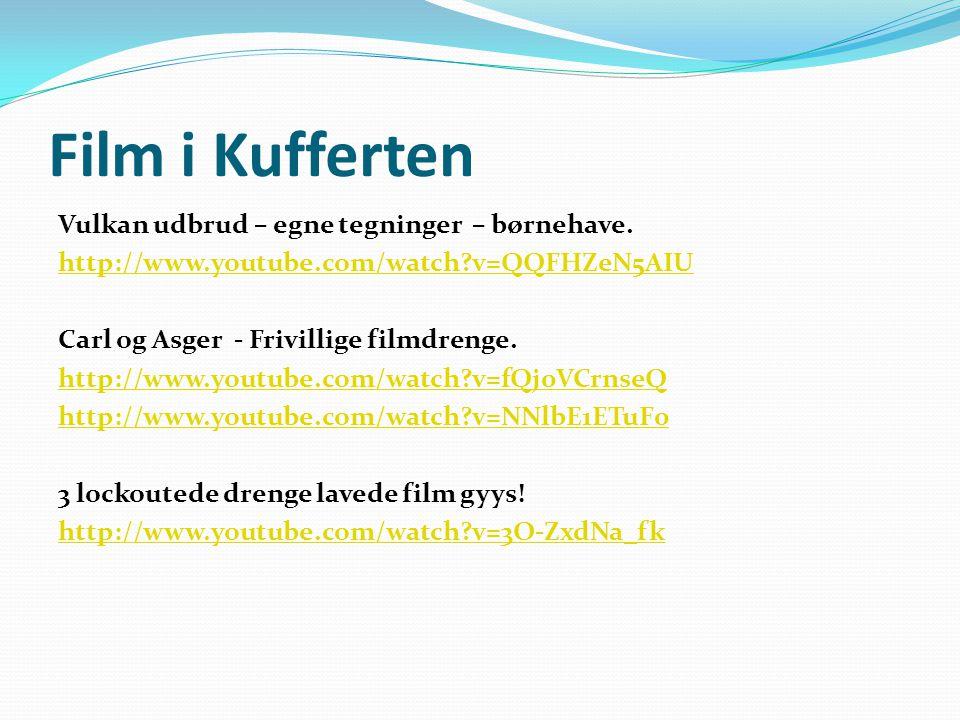 Film i Kufferten Vulkan udbrud – egne tegninger – børnehave.
