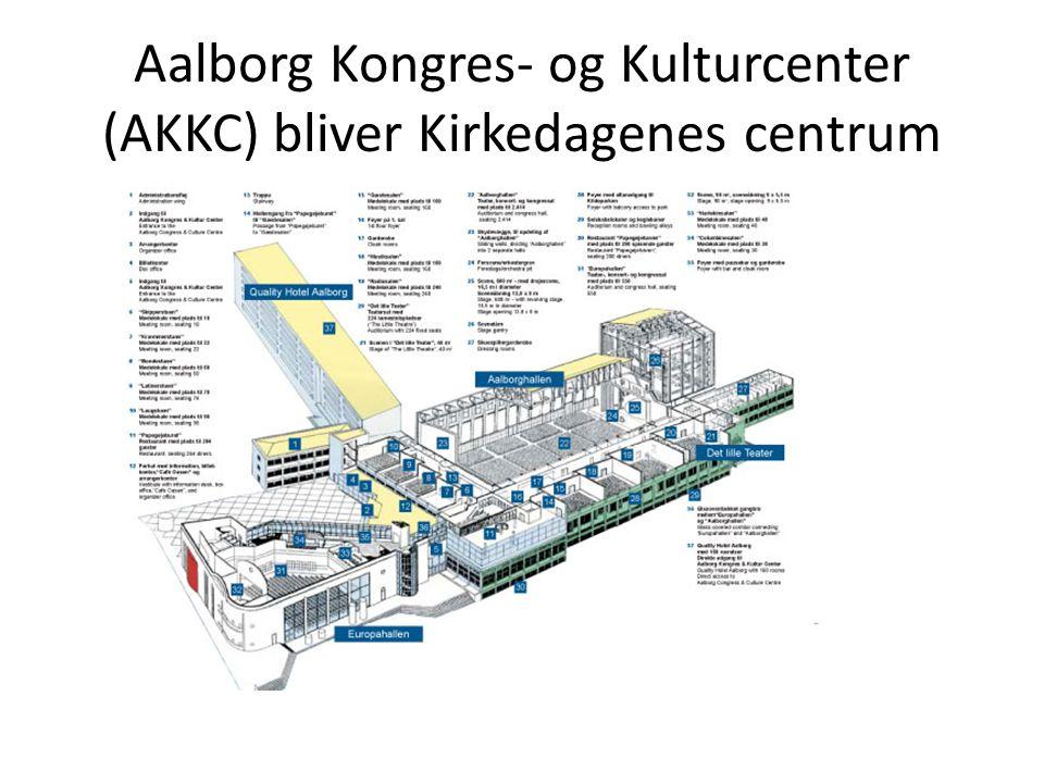 Aalborg Kongres- og Kulturcenter (AKKC) bliver Kirkedagenes centrum