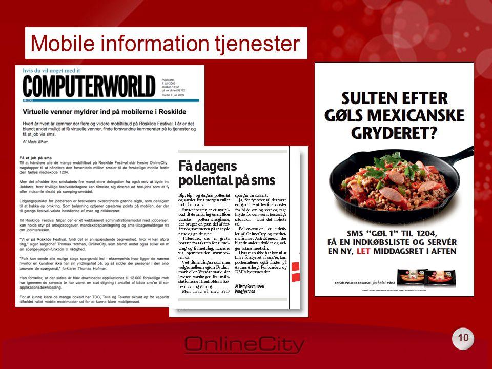 10 Mobile information tjenester