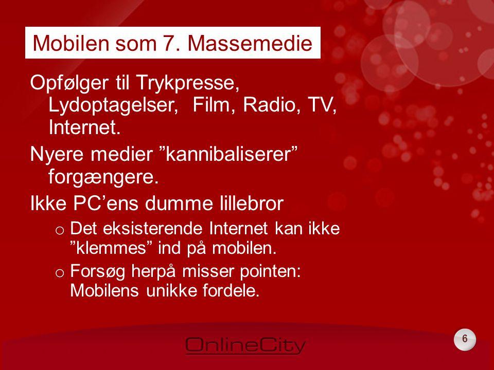 6 Opfølger til Trykpresse, Lydoptagelser, Film, Radio, TV, Internet.
