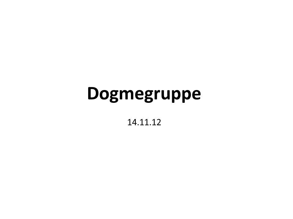 Dogmegruppe 14.11.12