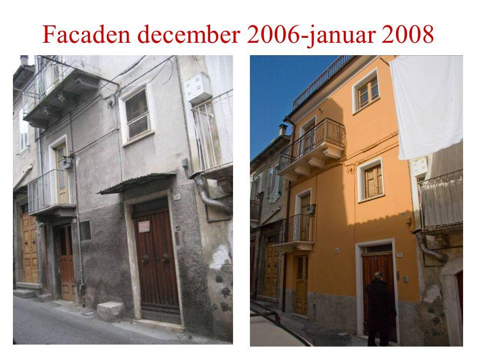 Facaden december 2006-januar 2008