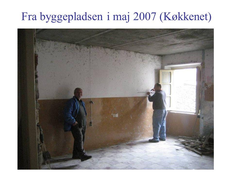 Fra byggepladsen i maj 2007 (Køkkenet)