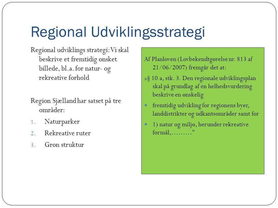 Regional Udviklingsstrategi Regional udviklings strategi: Vi skal beskrive et fremtidig ønsket billede, bl.a.