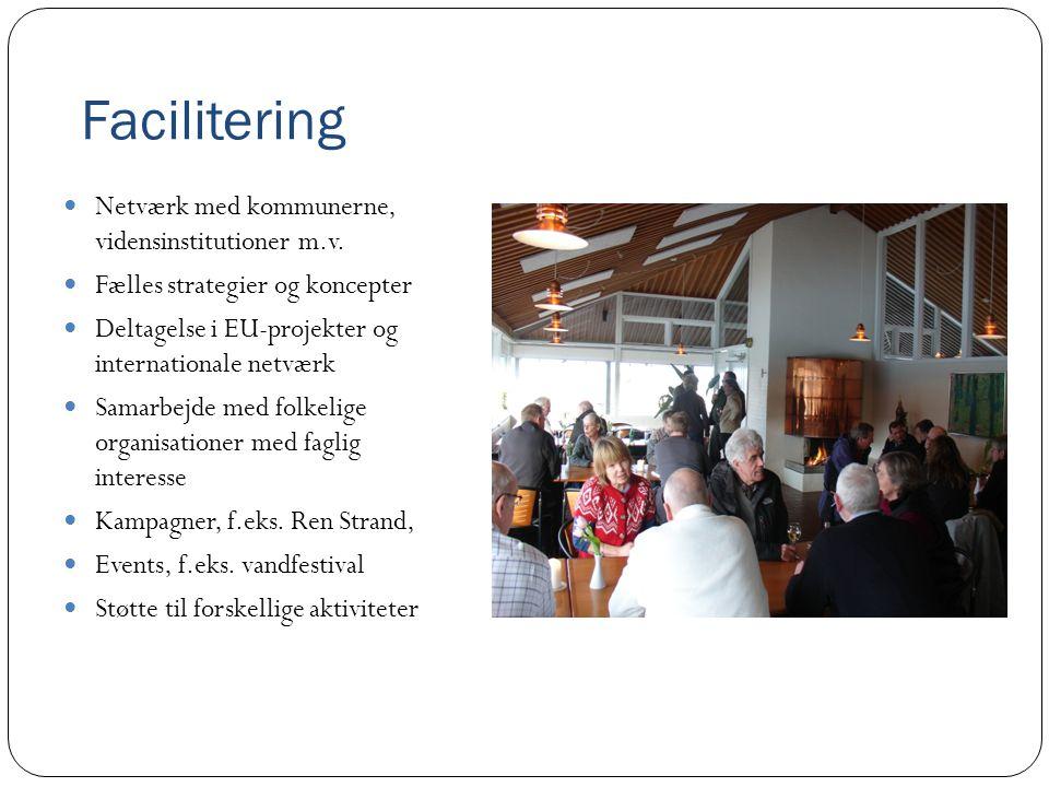 Facilitering  Netværk med kommunerne, vidensinstitutioner m.v.