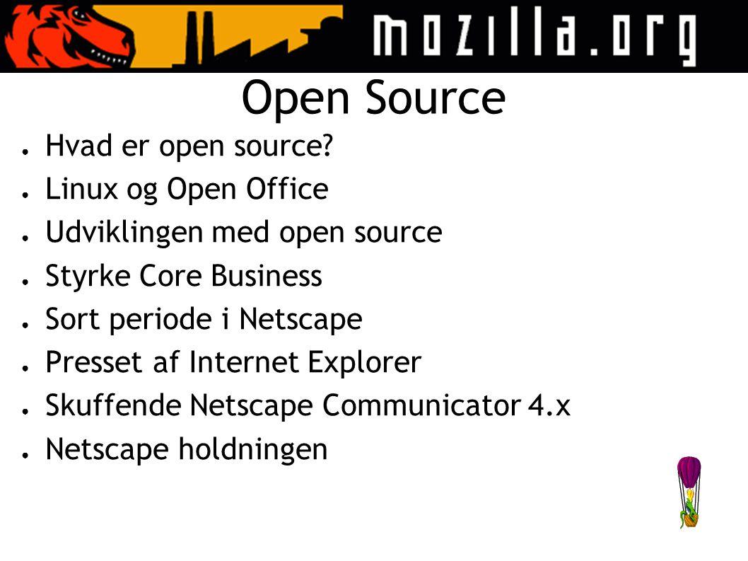 Open Source ● Hvad er open source.