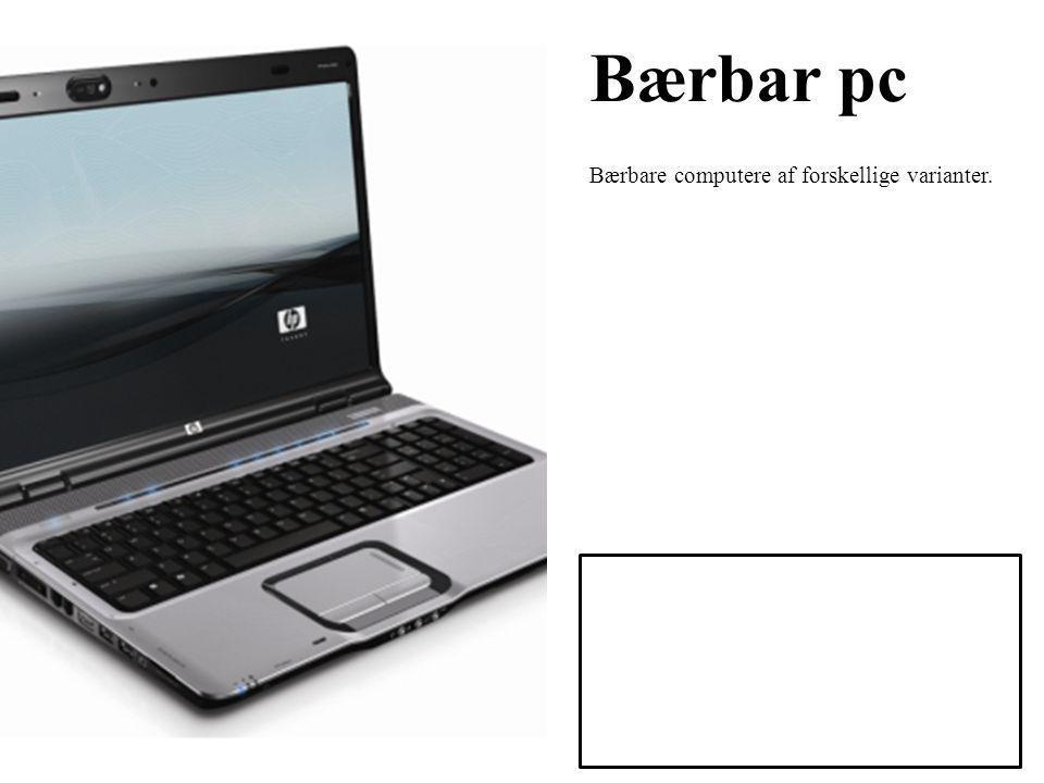 Bærbar pc Bærbare computere af forskellige varianter.