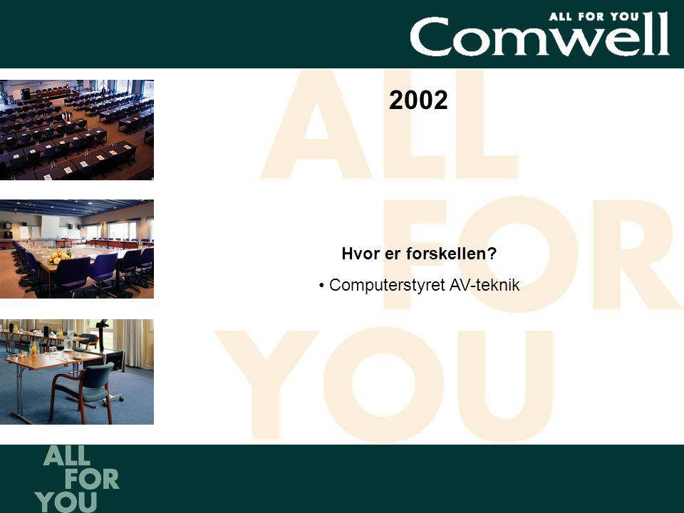 2002 Hvor er forskellen • Computerstyret AV-teknik