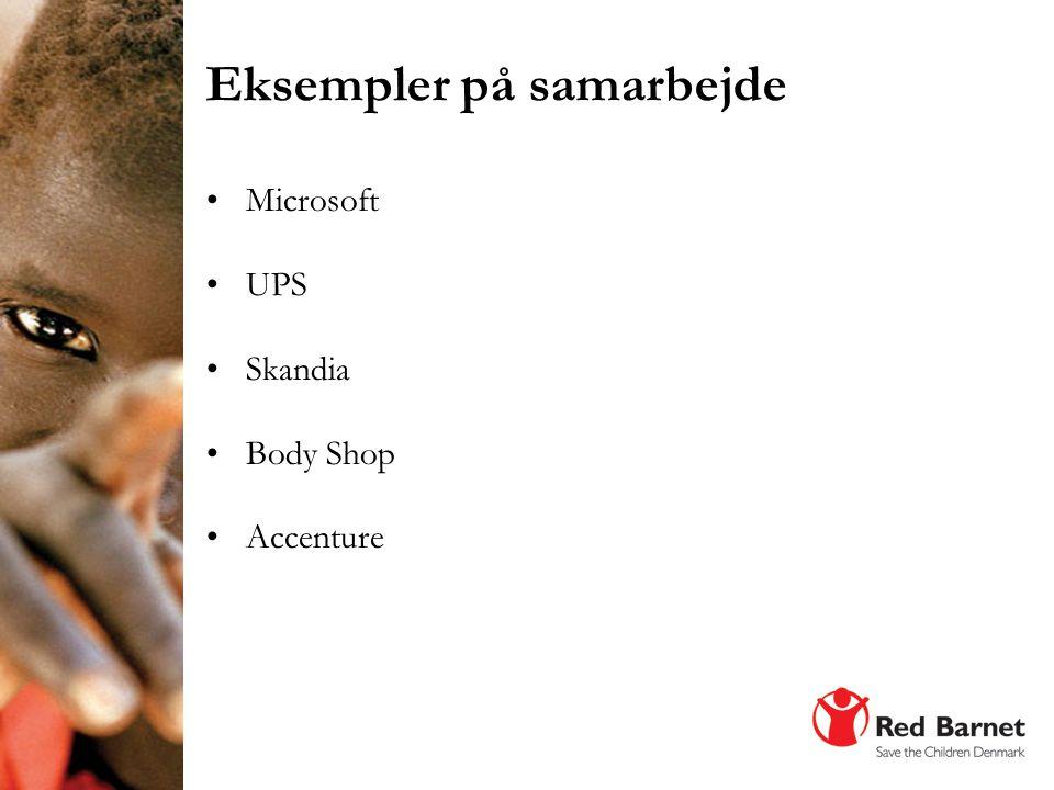 •Microsoft •UPS •Skandia •Body Shop •Accenture Eksempler på samarbejde Foto: Anna Kari