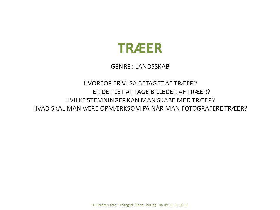 TRÆER GENRE : LANDSSKAB HVORFOR ER VI SÅ BETAGET AF TRÆER.