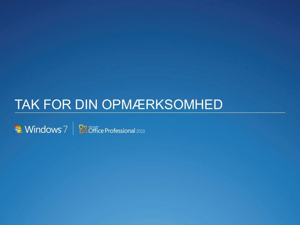 TAK FOR DIN OPMÆRKSOMHED