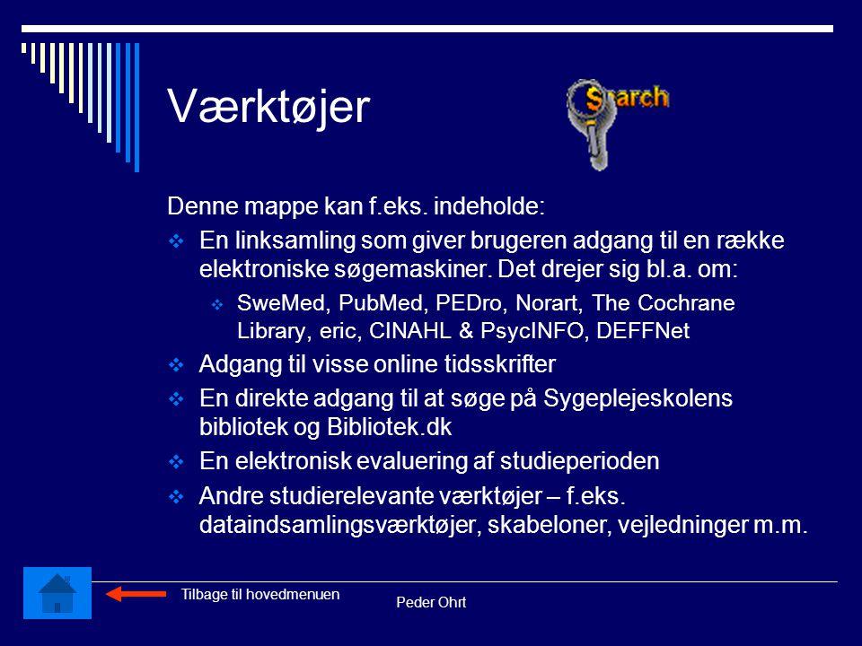 Peder Ohrt Værktøjer Denne mappe kan f.eks.