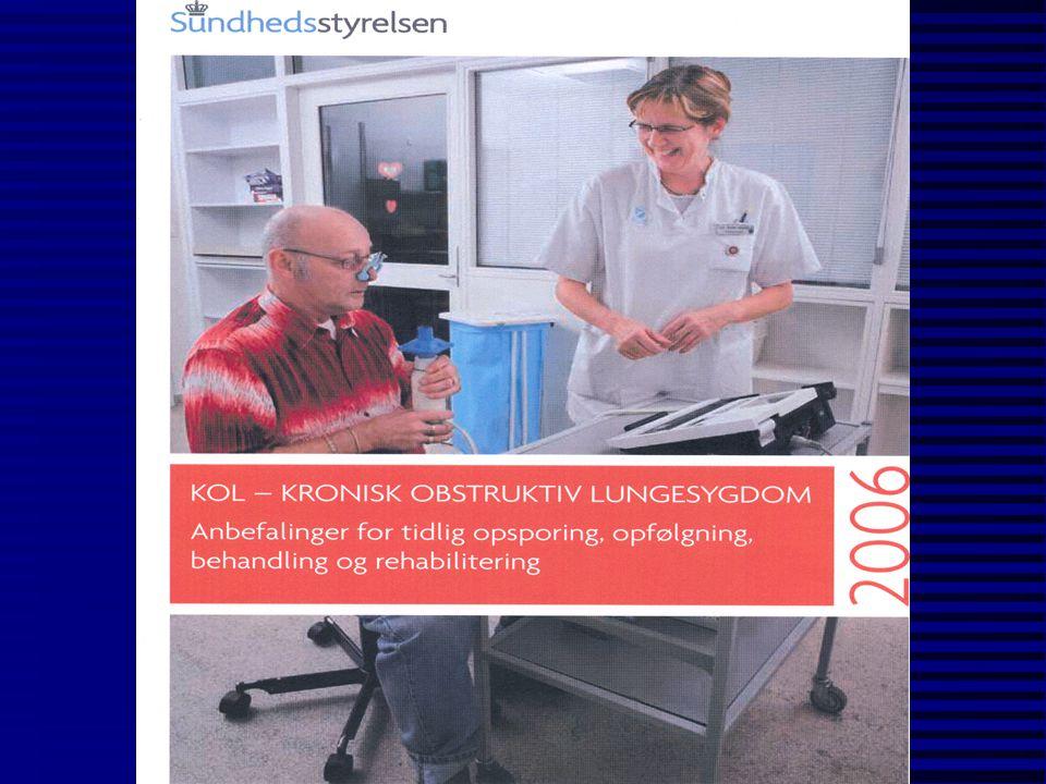 Fag/erhverv relateret til arbejdsbetinget KOL Meldrum et al OEM, Editorial 2005 n bygningsarbejdere n sprøjtemalere n landmænd n fremstilling af: -ledervarer -gummi -plastik -tekstiler -fødevarer
