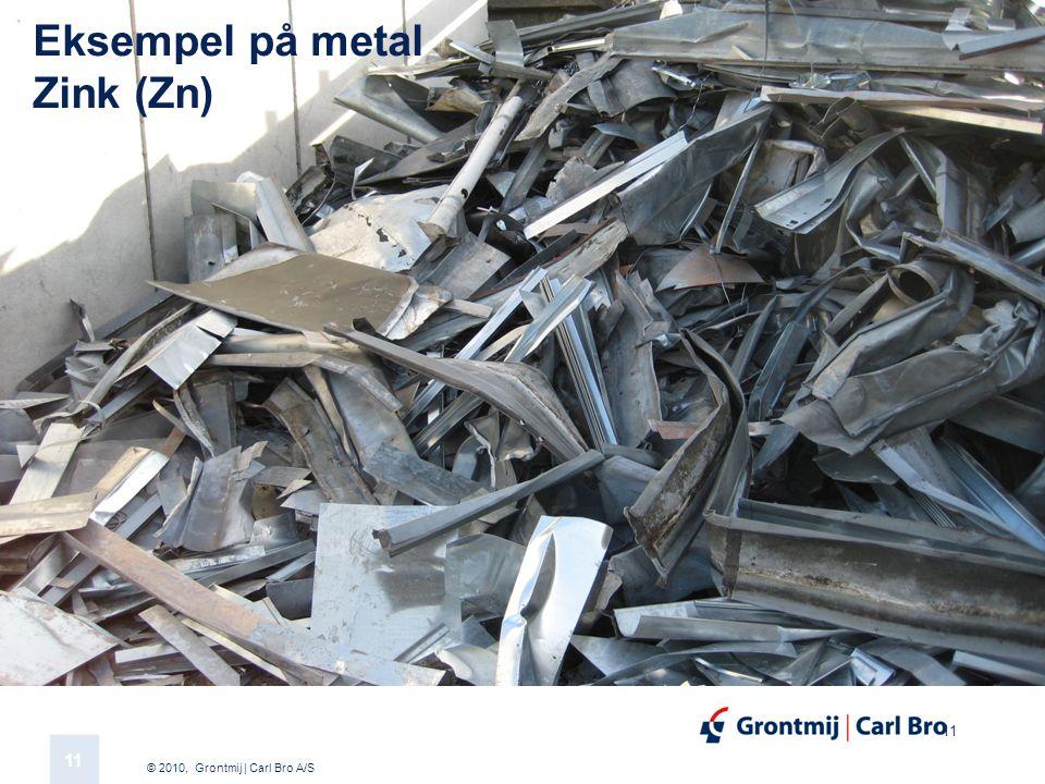 © 2010, Grontmij | Carl Bro A/S 11 Eksempel på metal Zink (Zn)