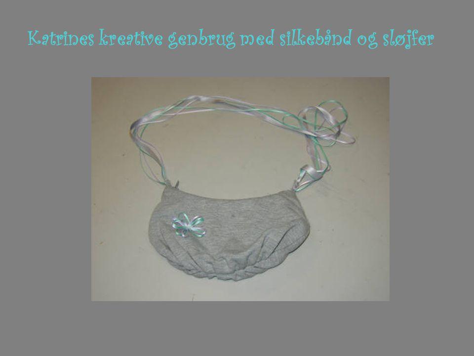 Katrines kreative genbrug med silkebånd og sløjfer