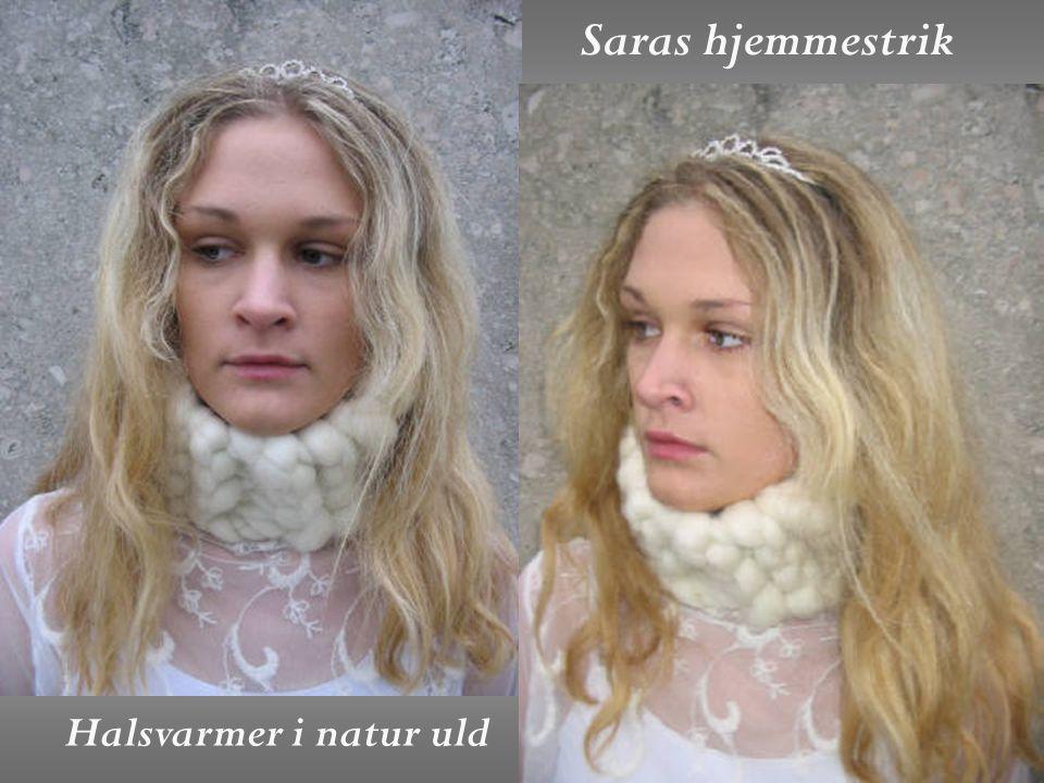 Saras hjemmestrik Halsvarmer i natur uld