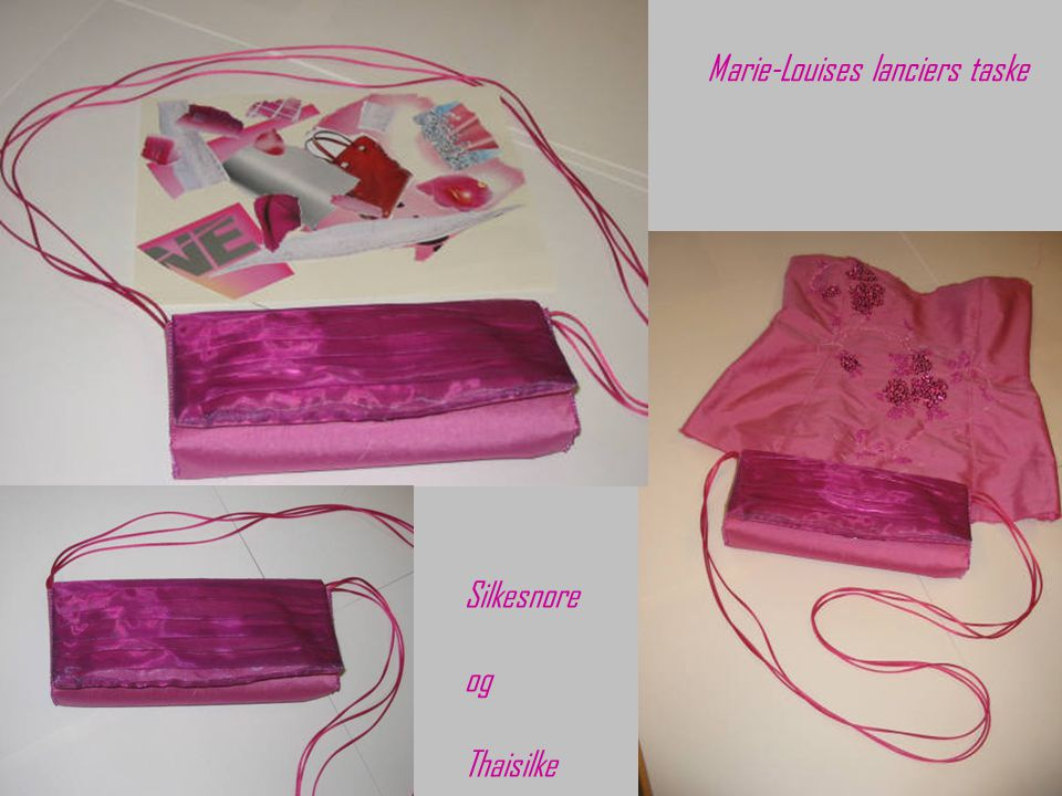 Marie-Louises lanciers taske Silkesnore og Thaisilke