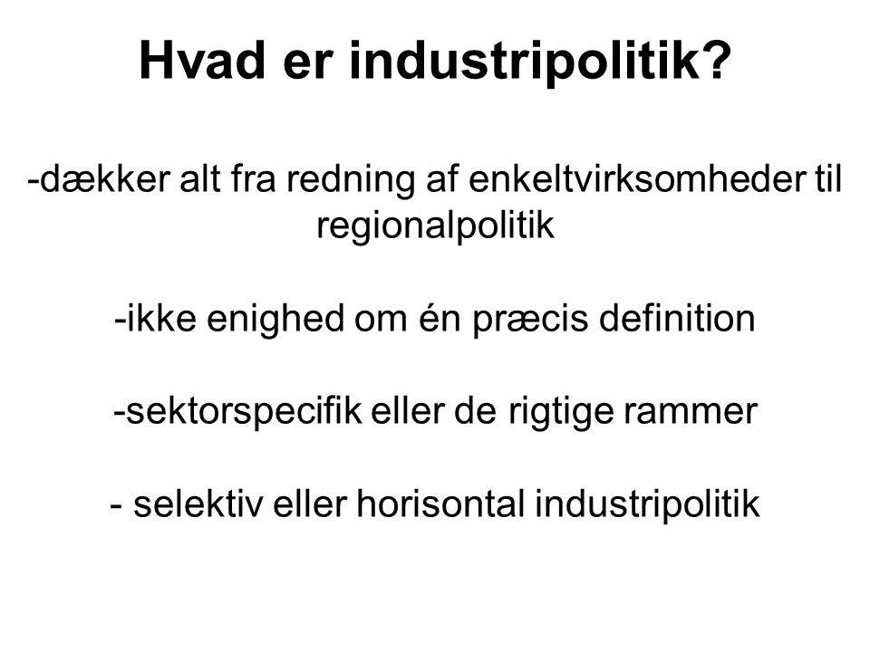 Hvad er industripolitik.