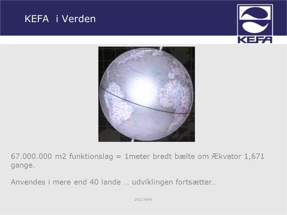 KEFA i Verden 67.000.000 m2 funktionslag = 1meter bredt bælte om Ækvator 1,671 gange.