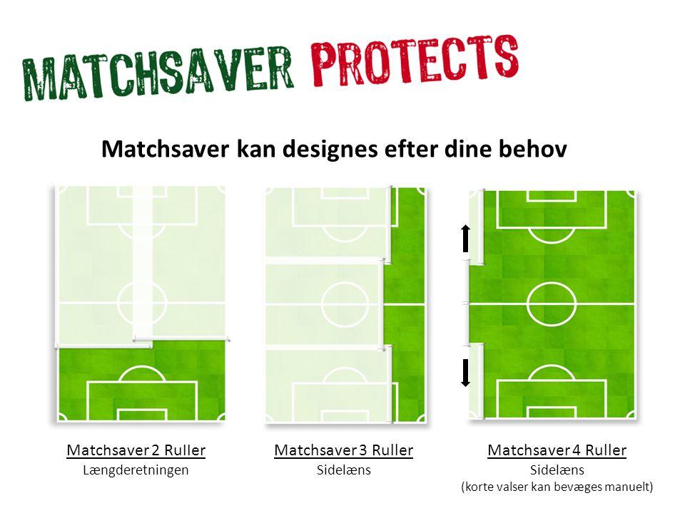 Matchsaver 2 Ruller Længderetningen Matchsaver kan designes efter dine behov Matchsaver 3 Ruller Sidelæns Matchsaver 4 Ruller Sidelæns (korte valser kan bevæges manuelt)