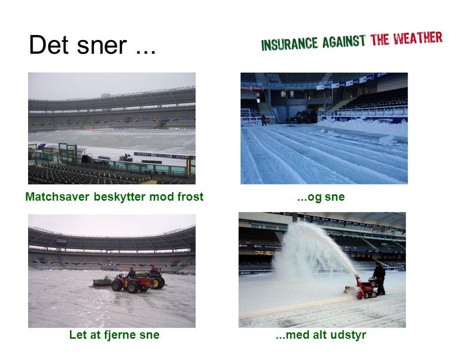 Det sner... Matchsaver beskytter mod frost Let at fjerne sne...og sne...med alt udstyr