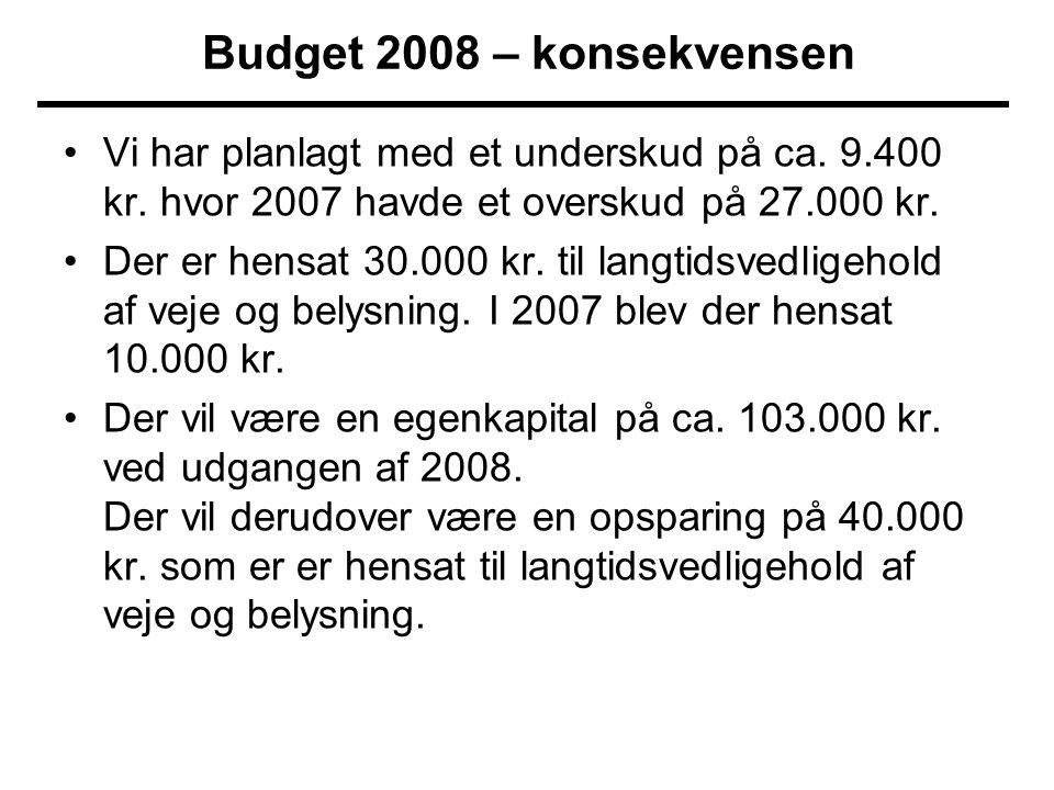 •Vi har planlagt med et underskud på ca. 9.400 kr.