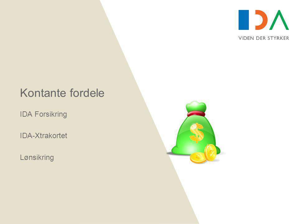 Kontante fordele IDA Forsikring IDA-Xtrakortet Lønsikring