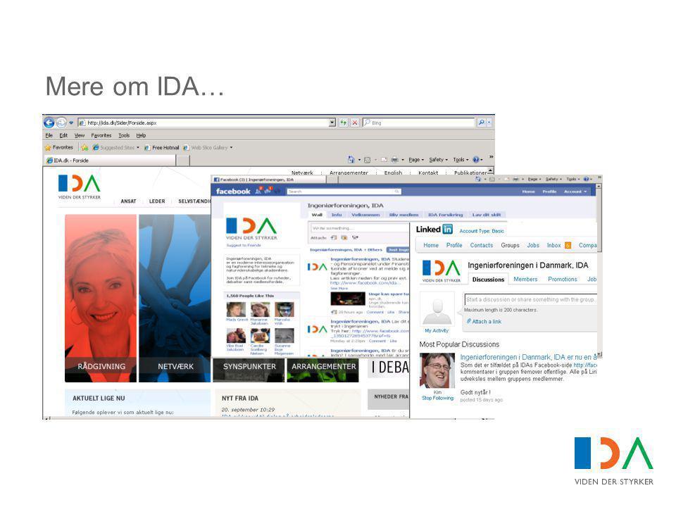 Mere om IDA…