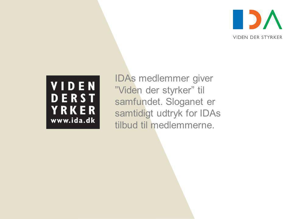 IDAs medlemmer giver Viden der styrker til samfundet.