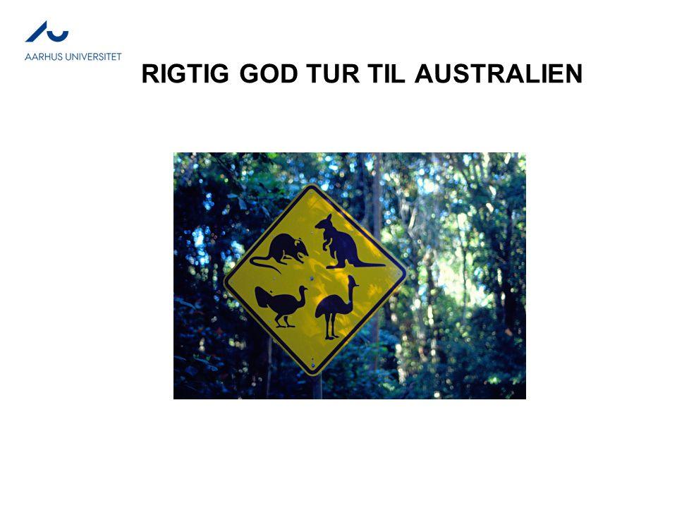 RIGTIG GOD TUR TIL AUSTRALIEN
