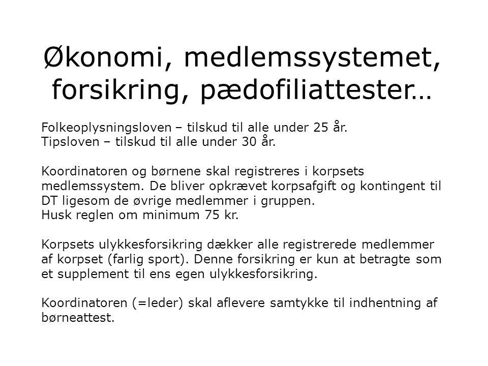 Økonomi, medlemssystemet, forsikring, pædofiliattester… Folkeoplysningsloven – tilskud til alle under 25 år.