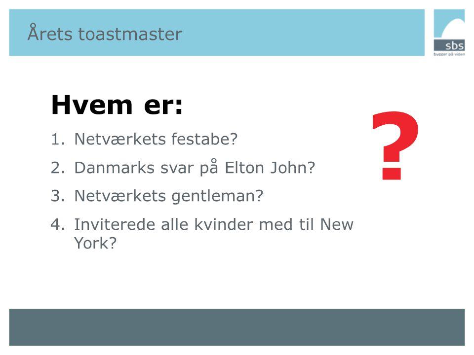 Årets toastmaster - Svanefar