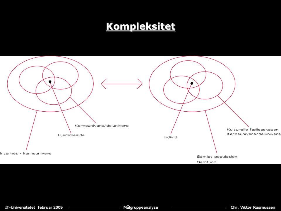 Chr. Viktor Rasmussen IT-Universitetet februar 2009 Målgruppeanalyse Kompleksitet