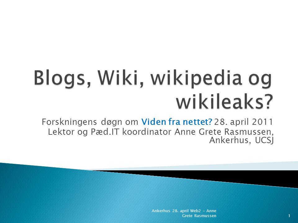 Forskningens døgn om Viden fra nettet. 28.