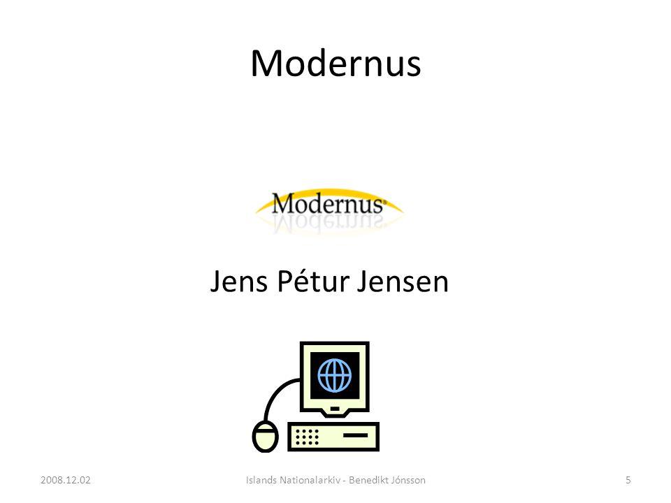 Modernus Jens Pétur Jensen 5Islands Nationalarkiv - Benedikt Jónsson2008.12.02