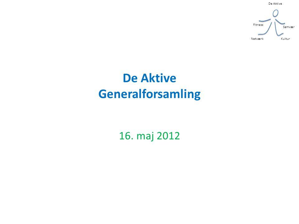 De Aktive Kultur Samvær Fitness Netværk De Aktive Generalforsamling 16. maj 2012