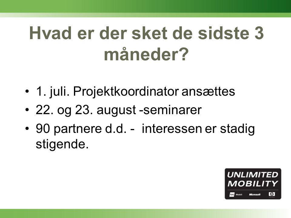 Kundeseminar-tidsplan 1.oktober - Slut for partnertilmelding til kampagnen ca.